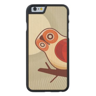 Owl And Moonlight Carved® Maple iPhone 6 Slim Case