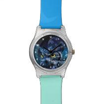 Owl and Night Sky Wrist Watch
