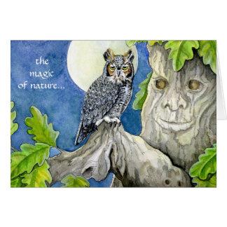 Owl and Oak greeting card