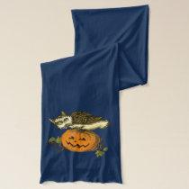 Owl and pumkin Halloween Scarf