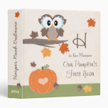 Owl and Pumpkin Fall Baby's First Year Album 3 Ring Binder