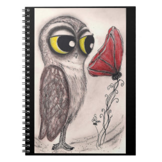 Owl and Red Poppy - Notebook