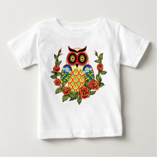Owl and Roses Mexican style Baby T-Shirt