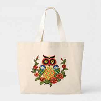 Owl and Roses Mexican style Bag