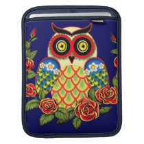Owl and Roses Mexican style Sleeve For iPads