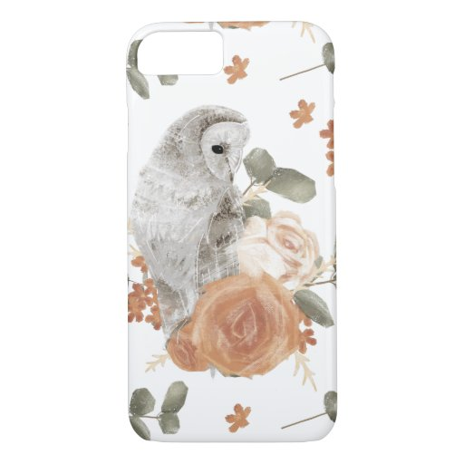Owl and Roses Phone Case