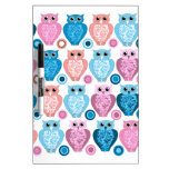 Owl and Spots Design Dry-Erase Boards