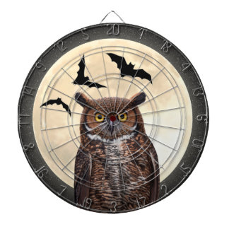Owl and The Full Moon Dartboard