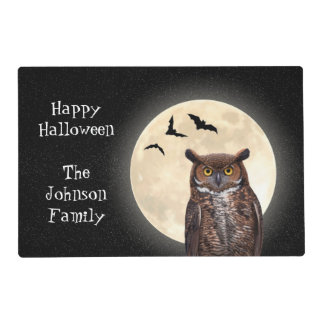Owl and The Full Moon Placemat