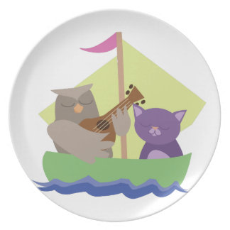 Owl and the Pussycat Plate