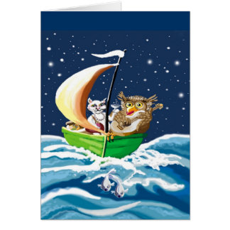 owl and the pussycat went to sea greeting card