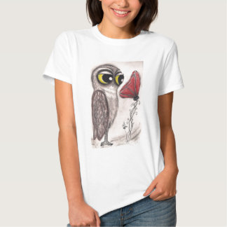 Owl and the Red Poppy T-Shirt