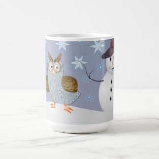 Owl and the Snowman Coffee Mug