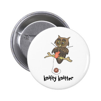 owl and yarn knifty knitter 2 inch round button