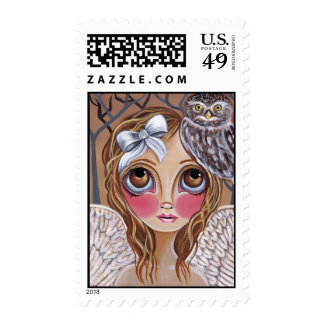 """Owl Angel"" Postage Stamps"