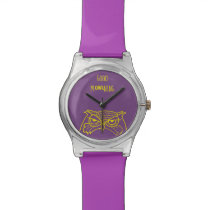Owl Angry Funny Good Morning -mOWLning Cool Sketch Wrist Watch