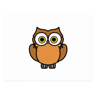 OWL APPLIQUE POSTCARD