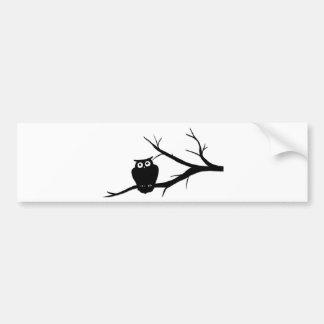 Owl Art Bumper Sticker