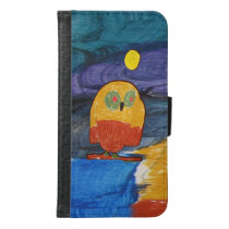 Owl Art by Kids Wallet Phone Case For Samsung Galaxy S6