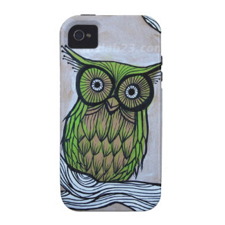 owl art vibe iPhone 4 covers