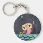 Owl Art - Catch A Falling Star Keychain