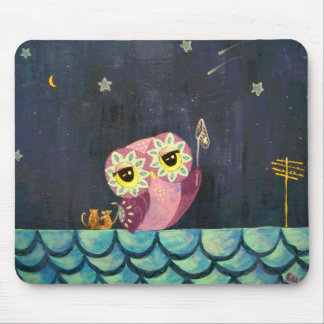 Owl Art - Catch A Falling Star Mouse Pad
