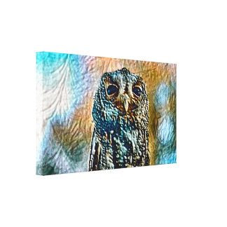 Owl Art Dark Painting Version Canvas Print