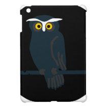 owl art design black fashion case for the iPad mini