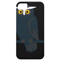 owl art design black fashion iPhone SE/5/5s case