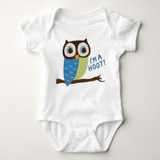 Owl Art I'm A Hoot Baby Bodysuit