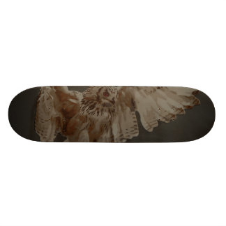 Owl art motifs custom skateboard