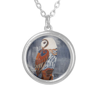 Owl Art Necklace - by Barbara Rush