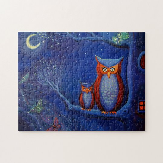 Owl Art Puzzle - By Susan Rodio Art