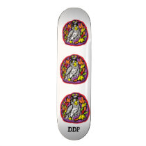 Owl art skateboard