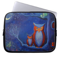"""Owl Art """"The Forest At Night"""" Laptop Case"""