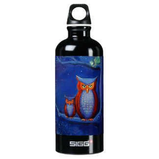 """Owl Art - """"The Forest At Night"""" SIGG Traveler 0.6L Water Bottle"""
