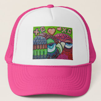 Owl Art Trucker Hat