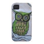 owl art vibe iPhone 4 covers
