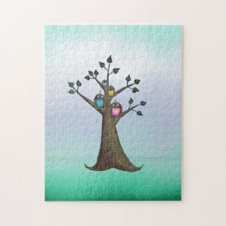 Owl Art Whimsical Art Owl Tree Puzzle
