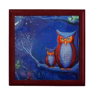 Owl Art - Wooden Gift Box - By Susan Rodio Art