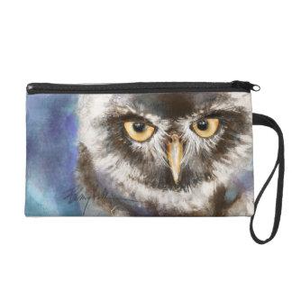 Owl Art Wristlet