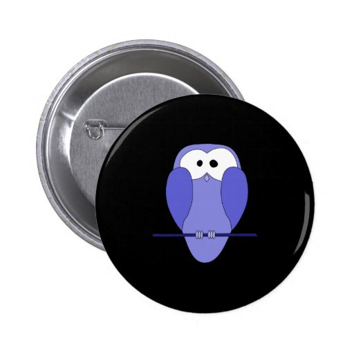 Owl at Night. Blue, black. Buttons
