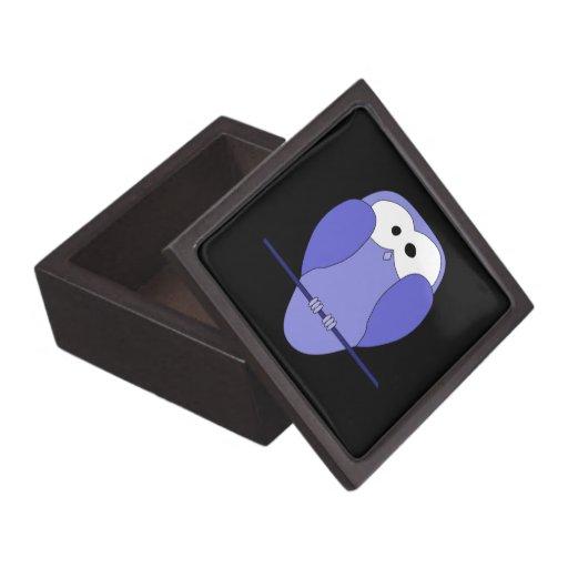 Owl at Night. Blue, black. Premium Jewelry Boxes