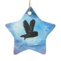 Owl At Night Ceramic Ornament