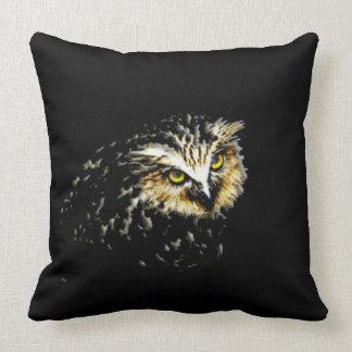 Owl at Night Throw Pillows