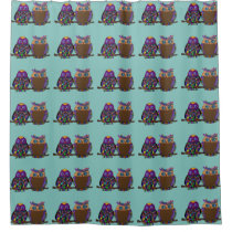 Owl Attraction Shower Curtain