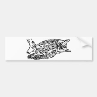 owl b/w collection bumper stickers