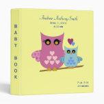 Owl Baby Binder for boys
