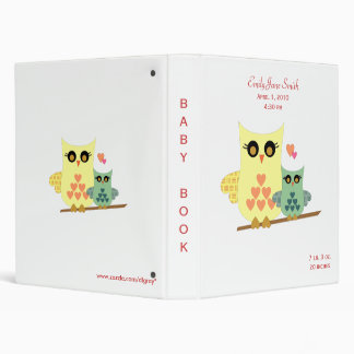 Owl Baby Binder for Girls or Boys