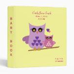 Owl Baby Book for girls Vinyl Binders